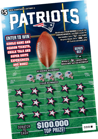 Patriots 5$ Scratch Ticket